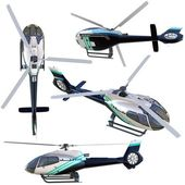 3d helicopter collection — Stock Photo