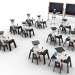 3d classroom with teacher and pupils — Stock Photo #5537186
