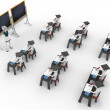 3d classroom with teacher and pupils — Stock Photo #5537188