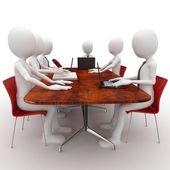 Reunião de equipe homem 3d — Fotografia Stock