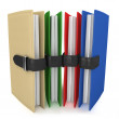 3d colorful folders — Stock Photo #5884198