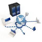 3dglobal Cloud computing concept — Stock Photo