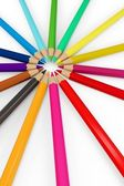 3d colourful pencils — Stockfoto
