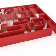 3d man running trough a maze — Stockfoto