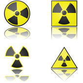Radioaktiva — Stockvektor