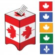 Canada election — Stock Vector