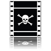Pirated movie — Stock Vector