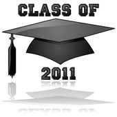 Class of 2011 graduation — Stock Vector