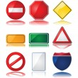 Stock Vector: Traffic signs