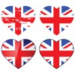Love UK — Stock Vector