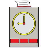 Ponche de reloj — Vector de stock