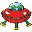Space aliens — Stock Vector