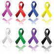 Awareness ribbons — Stock Vector