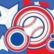 Royalty-Free Stock Vector Image: USA Baseball background