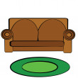 Cartoon couch — Stock Vector