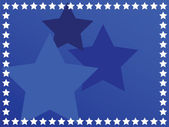 Blue star background — Vector de stock