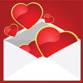 Love letter — Stock Vector