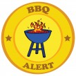 Barbecue alert — Stock Vector