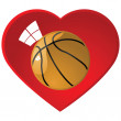 Stock Vector: I love basketball