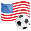 USA soccer — Stock Vector