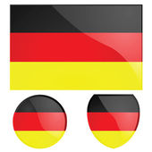 Germany flag and emblem — Stock Vector