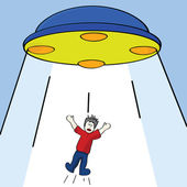 Alien abduction — Stock Vector