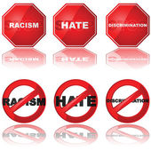 Stop discrimination — Stock Vector