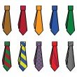 Stock Vector: Collection of ties