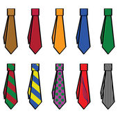 Collection of ties — Stock Vector