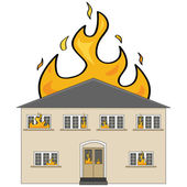 House on fire — Stock Vector