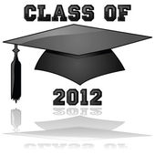 Class of 2012 graduation — Stock Vector