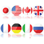 Group of 8 countries — Stock Vector