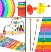 Colagem de brinquedos — Foto Stock