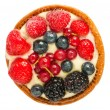 Stock Photo: Cake with fresh berries top view