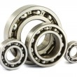 Stock Photo: Steel ball bearings
