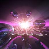 Fantasy Technology Background — Stock Photo