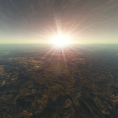 Cracked Earth Horizon Background — Stock Photo