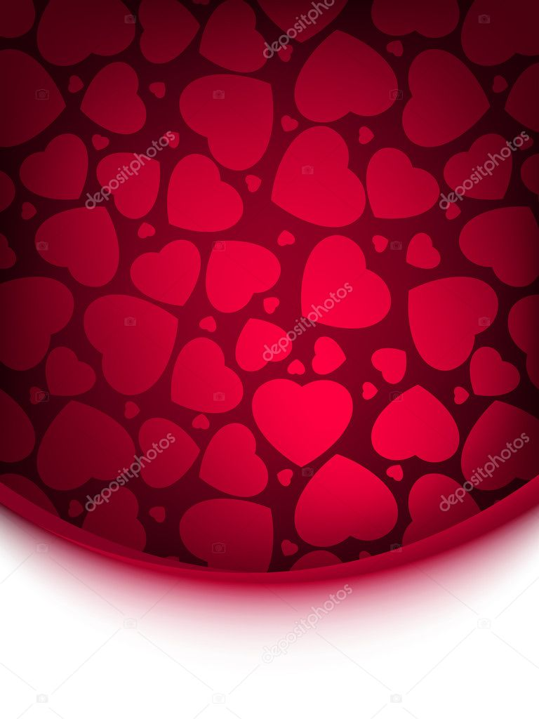 Abstract red heart background. EPS 8 vector file included — Stok Vektör #5581669