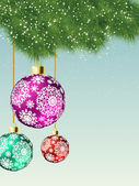 Christmas card background. EPS 8 — Stock Vector