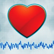 Heart and heartbeat symbol cardiogram. EPS 8 — Stock Vector