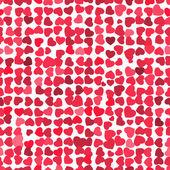 Valentine seamless hearts pattern. EPS 8 — Stock Vector