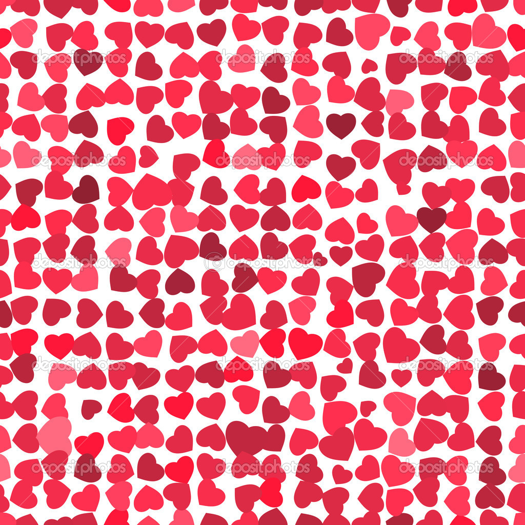 Valentine seamless hearts pattern. EPS 8 vector file included — Stock Vector #5608464