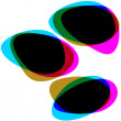 Interactive multicolored bubbles. EPS 8 — Stockvectorbeeld