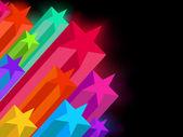 Resumen estrellas brillantes sobre un fondo oscuro. eps 8 — Vector de stock