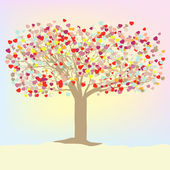Valentine vector tree. EPS 8 — Stock Vector