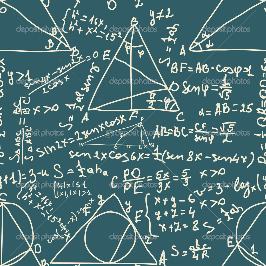 Math and trigonometrical Formulas. Seamless pattern. EPS 8 vector file included — Stock Vector #5614774