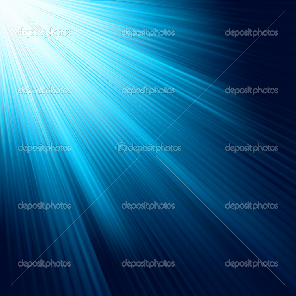Blue light burst. EPS 8 vector file included — Stock Vector #5614872