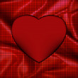 Silk red mosaic valentine heart card. EPS 8 — Image vectorielle