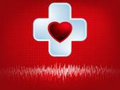 Símbolo de corazón y el latido del corazón. eps 8 — Vector de stock