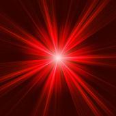 Red bursting star on dark background. EPS 8 — Stock Vector